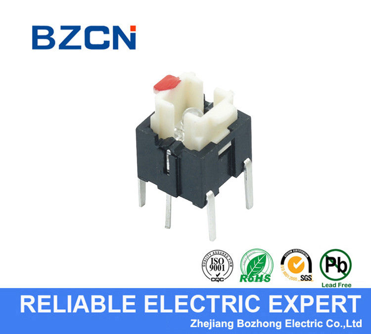 Water Resistant LED Push Button Switch / Momentary Tactile Switch 50mA Rating