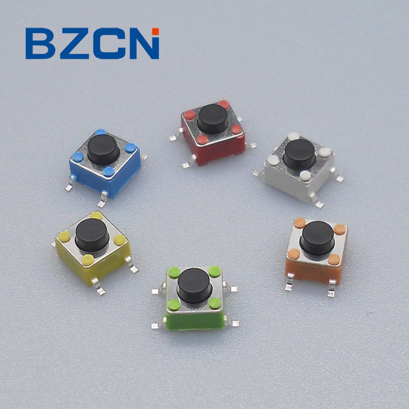 Colorful SMD Tactile Switch  6 X 6 Mm SMT Type Switch For Remote Control